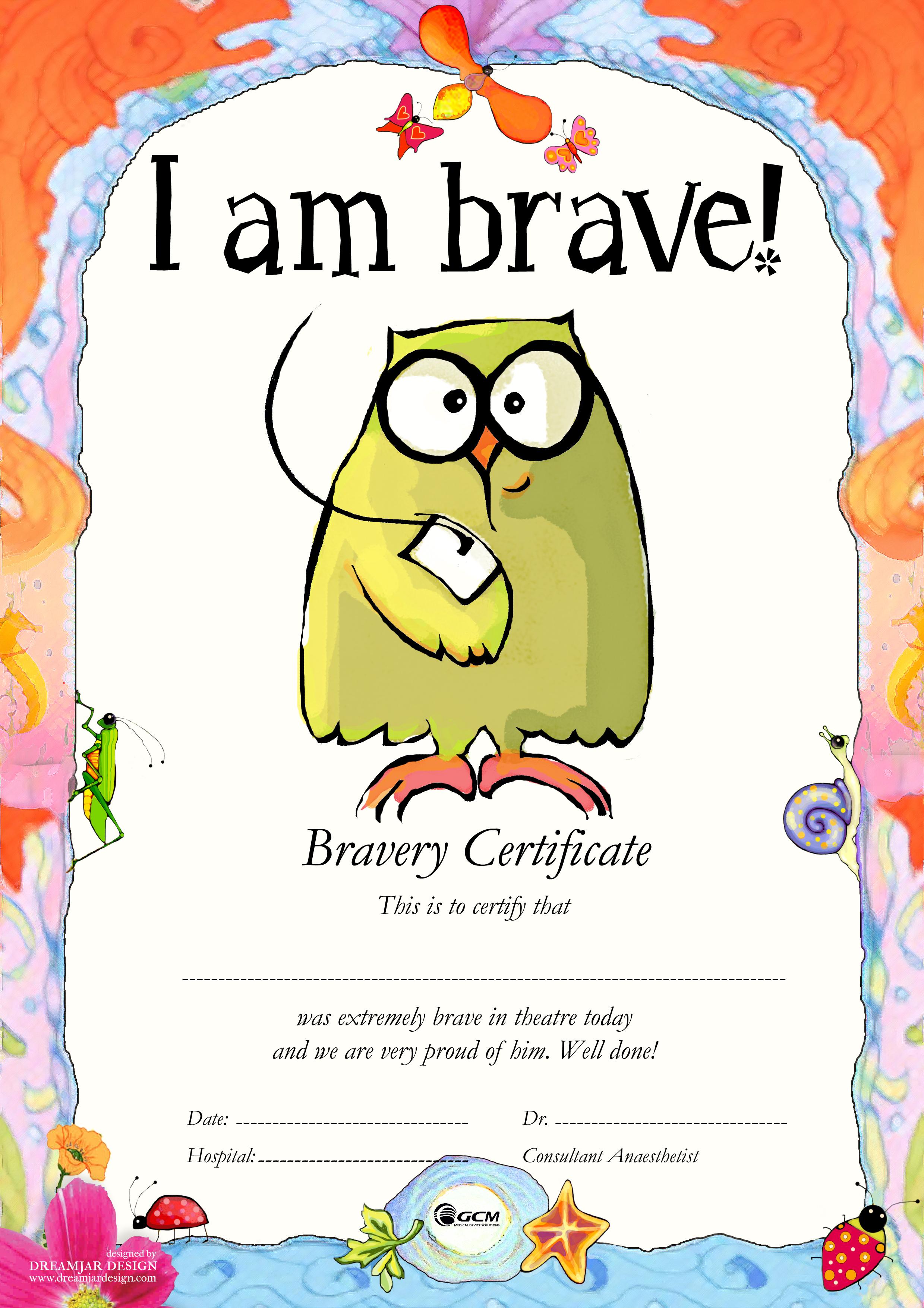 bravery certificate template - blank certificates blank certificate template for kids